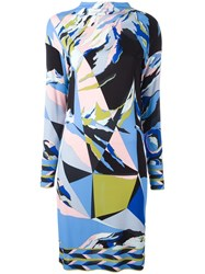 Emilio Pucci Abstract Print Dress Blue