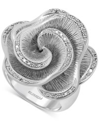 Effy Collection Effy Balissima Diamond Open Flower Ring 1 6 Ct. T.W. In Sterling Silver