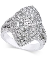 Macy's Diamond Marquise Style Cluster Ring 1 5 8 Ct. T.W. In 14K White Gold