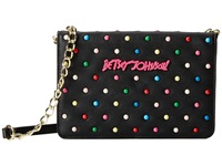 Betsey Johnson Candy Dots Wallet On A String Black Wallet Handbags