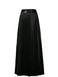 Karen Millen Pleated Long Skirt Black Black