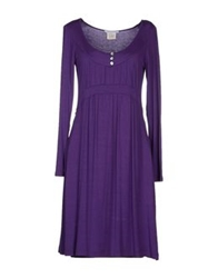 Germano Zama Short Dresses Purple