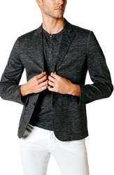 Good Man Brand Tech Ponte Trim Fit Cotton Blazer Charcoal Heather Grey