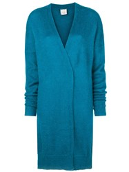 Alysi Long Fitted Cardigan Blue