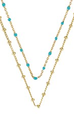 Gorjana Pristine Coin Necklace In Metallic Gold. White Cz And Gold