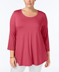 Jm Collection Plus Size Swing Top Only At Macy's Perfect Rose