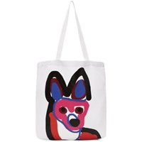 Maison Kitsune White Acide Fox Tote