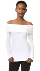 Derek Lam Off Shoulder Top White