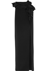 Givenchy Black Silk Cady Long Skirt