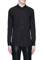 The Viridi Anne Cotton Broadcloth Shirt Black