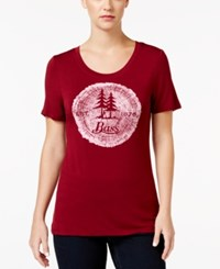 G.H. Bass And Co. Logo Graphic T Shirt Wine Black