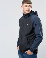 Lyle And Scott Jacket With Contrast Sleeves In Black True Black