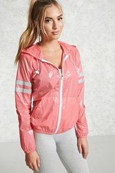 Forever 21 Active Reflective Nylon Jacket Pink Silver