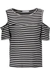Kain Label Beverly Cutout Striped Modal T Shirt Black