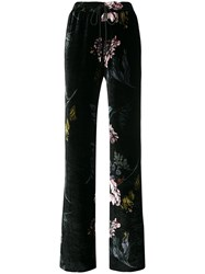 Markus Lupfer Floral Print Trousers Black