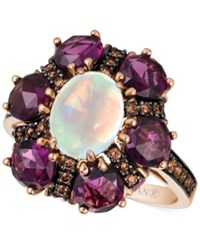 Le Vian Chocolatier Opal 9 10 Ct. T.W. Rhodolite Garnet 5 3 4 Ct. T.W. And Diamond 3 10 Ct. T.W. Ring In 14K Rose Gold