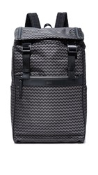 Hugo Boss Nylon Chevron Print Backpack Fantasy Grey