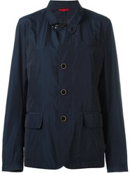 Fay Zipped Blazer Coat Blue