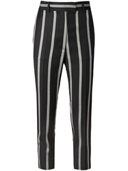 Vivienne Westwood Red Label Cropped Striped Trousers Blue