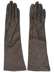 Yves Saint Laurent Vintage Mid Length Gloves Brown