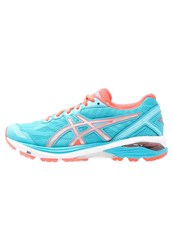 Asics Gt1000 5 Stabilty Running Shoes Aquarium Silver Flash Coral Light Blue