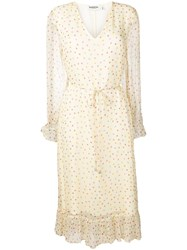 Essentiel Antwerp Polka Dot Print Dress Neutrals