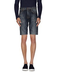 Reign Denim Denim Bermudas Men Blue