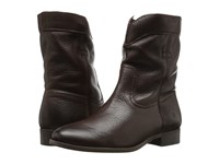 Frye Cara Roper Short Chocolate Soft Pebbled Full Grain Women's Pull On Boots Brown