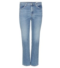 Rag And Bone Stove Pipe Cropped Jeans Blue