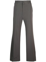Lanvin Wide Leg Tailored Trousers Grey