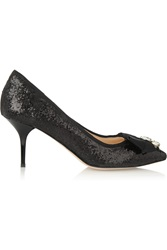 Lucy Choi London Marrakech Embellished Glitter Finished Leather Pumps