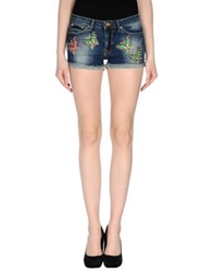 Beayukmui Denim Shorts Blue