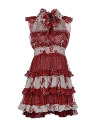 H. Preppy Short Dresses Maroon
