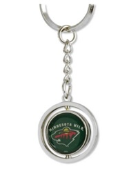 Aminco Minnesota Wild Rubber Puck Spinning Key Ring Team Color
