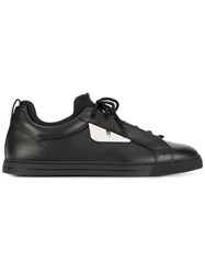 Fendi Metal Plate Lace Up Trainers Black