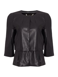 Marella Ieri Long Sleeve Jacket With Waisted Detail Black