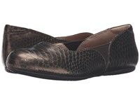 Softwalk Norwich Bronze Metal Glazed Snake Women's Dress Flat Shoes