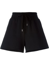 T By Alexander Wang A Line Track Shorts Black
