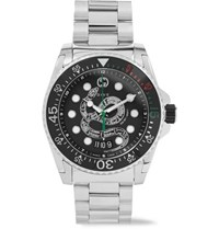 Gucci Dive 45Mm Stainless Steel Watch Black