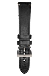 Men's Jack Mason Brand Leather Strap 22Mm Black