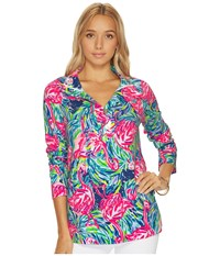Lilly Pulitzer Windsor Pullover Multi Flamenco Beach Clothing
