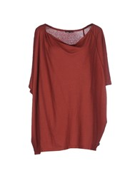 Oska Topwear T Shirts Women Brown