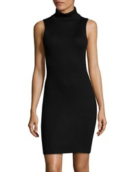 Design Lab Lord And Taylor Ribbed Knit Turtleneck Dress Black