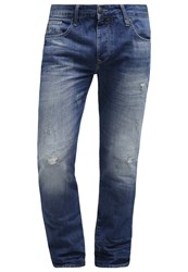 Petrol Industries Turner Straight Leg Jeans Distroyed Dark Blue