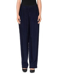 Es'givien Trousers Casual Trousers Women Dark Blue
