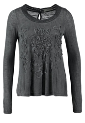 Cream Mandy Long Sleeved Top Antracite Anthracite