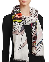 Fraas Coloring Book Floral Scarf Off White Multi