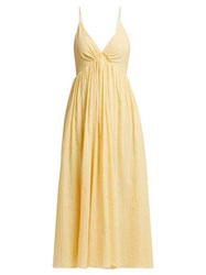 Loup Charmant Adelaide Cotton Midi Dress Light Yellow