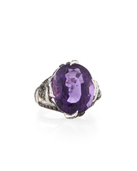 Stephen Webster Barbed Wire Amethyst Cocktail Ring