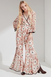 Lucca Couture Anastasia Wrap Jumpsuit Pink